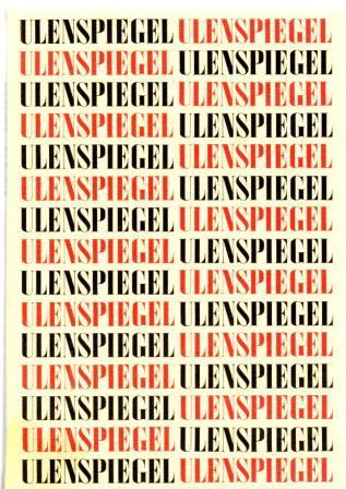 Ulenspiegel. Zeitschrift für Literatur, Kunst und Satire: Sandberg, Herbert /