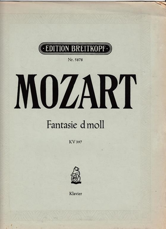 Fantasie d moll. KV 397. Für Klavier.: Mozart, W. A.
