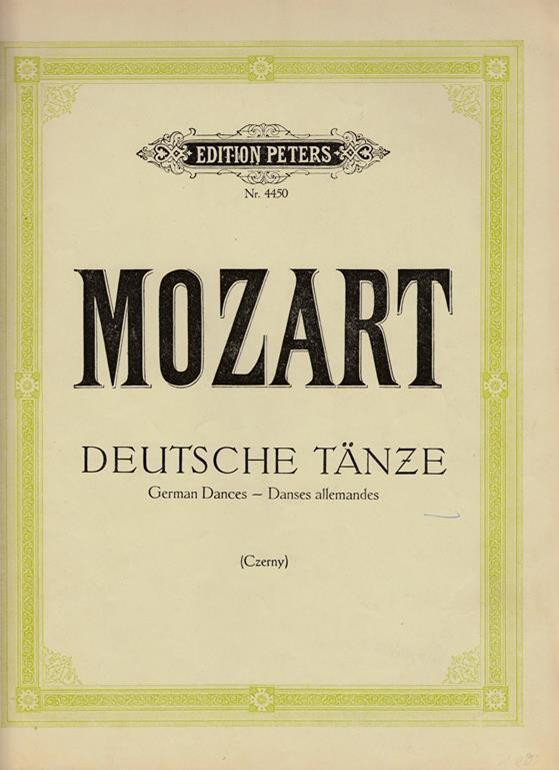 Deutsche Tänze. German Dances. Danses allemandes. K.V.: Mozart, W. A.