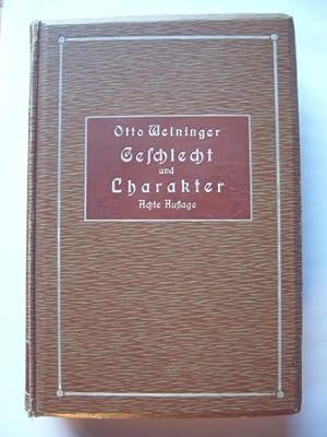 Geschlecht und Charakter.: Weininger, Otto