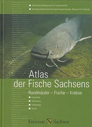 Atlas der Fische Sachsens. Rundmäuler, Fische, Krebse. Geschichte, Verbreitung, Gefährdung, Schutz....