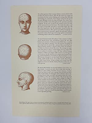 Broadside from 'Hiding in Plain Sight: Essays in Criticism and Autobiography'