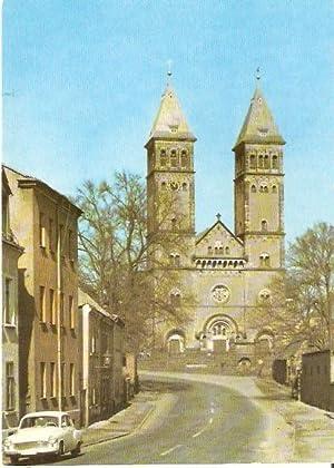 Leipzig-Kleinzschocher. Taborkirche. Südansicht, erbaut 1902-1904, neuromanisch.: Ansichtskarte (PLZ: 04229):