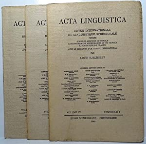 Acta Linguistica. Revue Internationale de Linguistique Structurale. Volume IV. Fascicule 1, 2, 3.