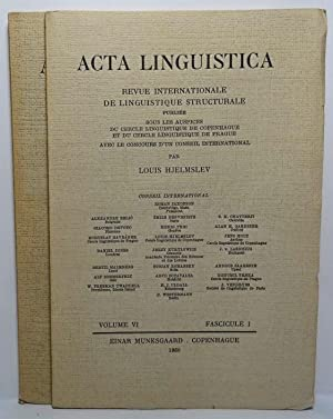 Acta Linguistica. Revue Internationale de Linguistique Structurale. Volume VI. Fascicule 1 & 2-3