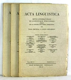 Acta Linguistica. Revue Internationale de Linguistique Structurale. Volume II. Fascicule 1 & 2/ 3
