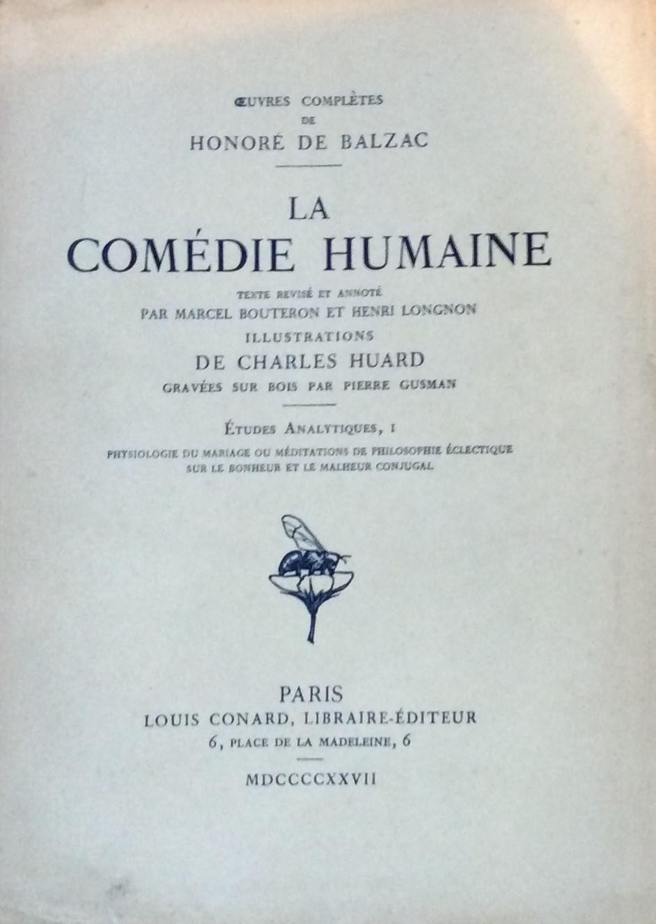 Oeuvres Complete La Comedie Humaine Etudes