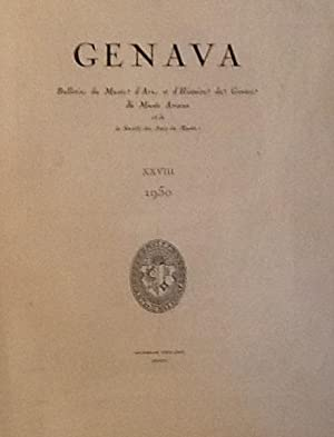 Genava Bulletin de Musee d'Art et d'Histoire de Geneva XXVIII 1950
