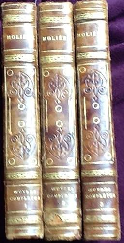 Oeuvres Completes de Moliere Nouvelle Edition Precedee de la vie de Moliere par Voltaire 3 tomes: m...