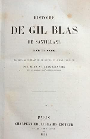 Histoire de Gil Blas de Santillane par le sage: Santillane