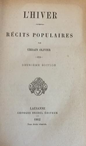 L'Hiver Recits Populaires: Urbain Olivier