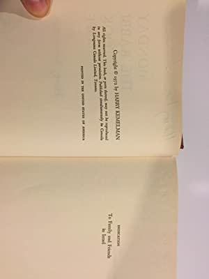 Monday The Rabbi Took Off - Signed: Kemelman, Harry