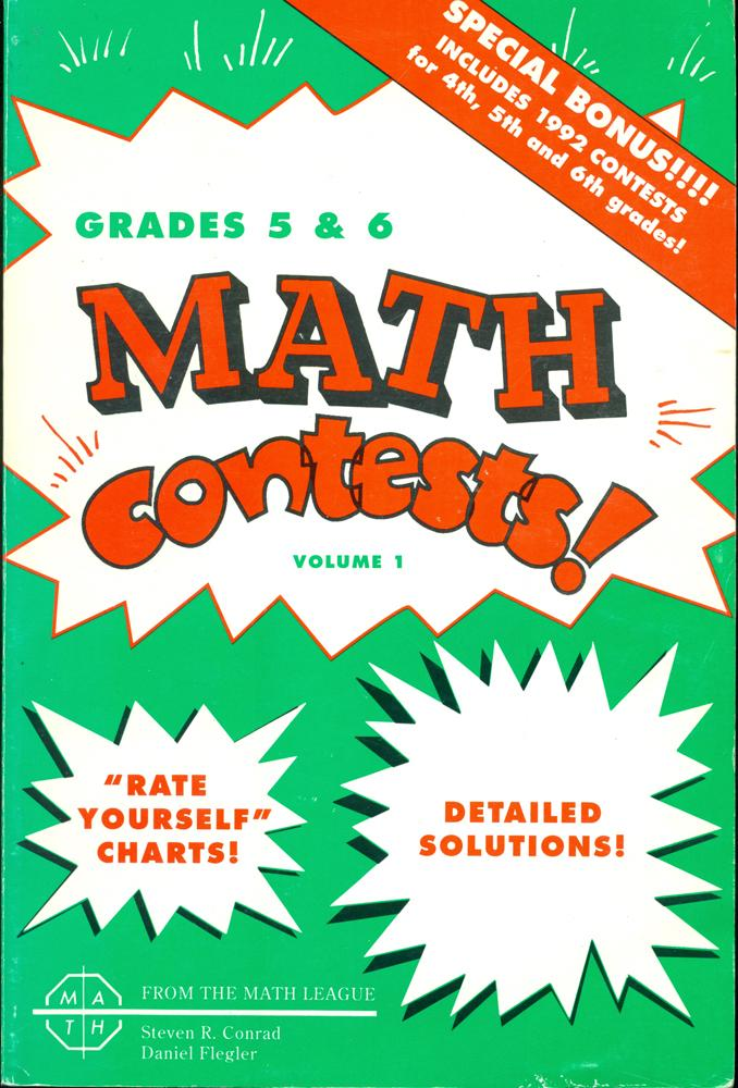 MATH CONTESTS! : Grades 4, 5, and 6: School Years 1979-80 Through ...