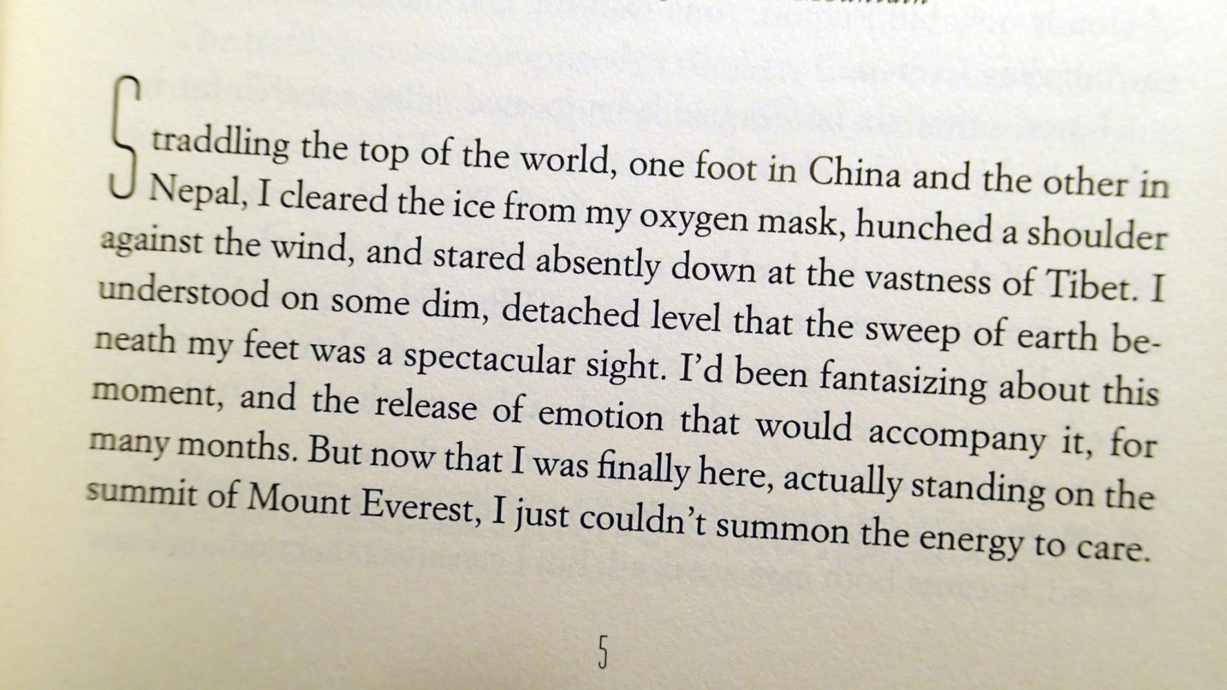 ... INTO THIN AIR : A Personal Account of the Mt. Everest Disaster:  Krakauer, ...