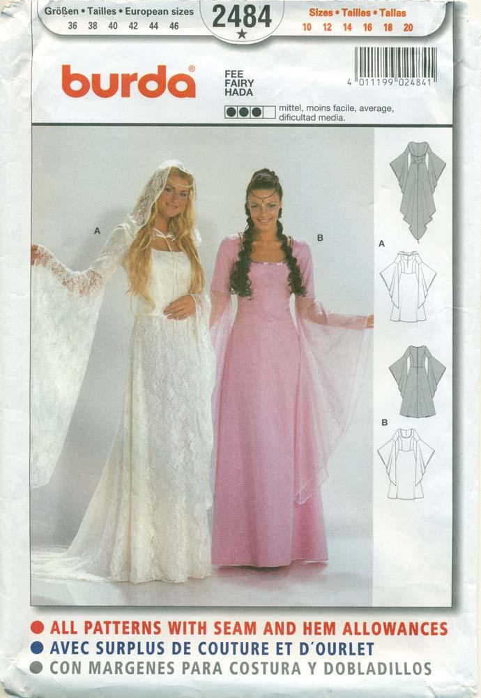 BURDA SEWING PATTERN: #2484: Misses\' Renaissance Gowns by Burda ...
