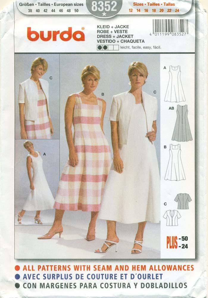 BURDA SEWING PATTERN 40 Misses' Sleeveless Dress Jacket Size Cool Burda Sewing Patterns