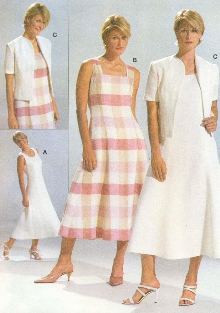 BURDA SEWING PATTERN: #8352: Misses\' Sleeveless Dress Jacket: Size ...