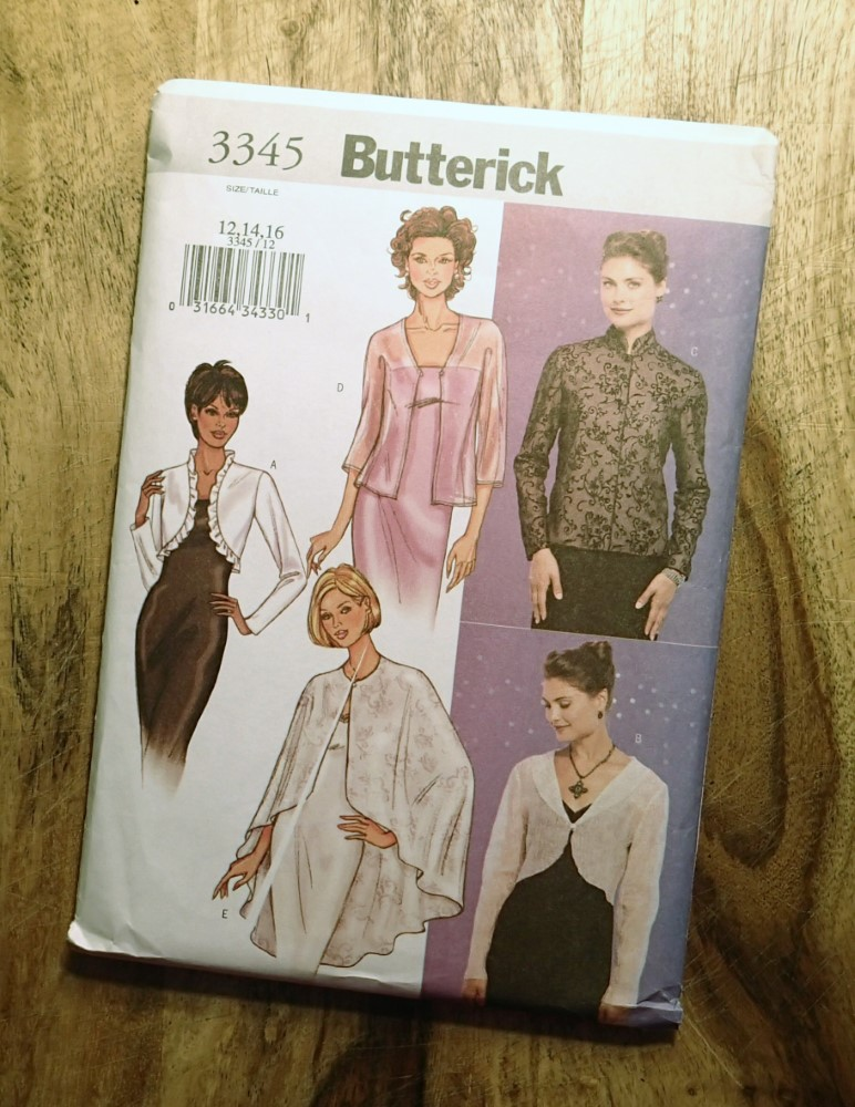 BUTTERICK SEWING PATTERN: #3345, Size: 12-14-16: EASY: Misses ...