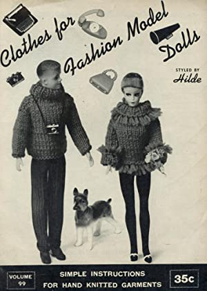 CLOTHES FOR FASHION MODEL DOLLS Styled By Hilde : Simple Instructions for Hand Knitted Garment : ...