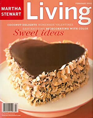 MARTHA STEWART LIVING : SWEET DELIGHTS : Coconut Delights, Homemade Valentines, Easy Knitting : F...