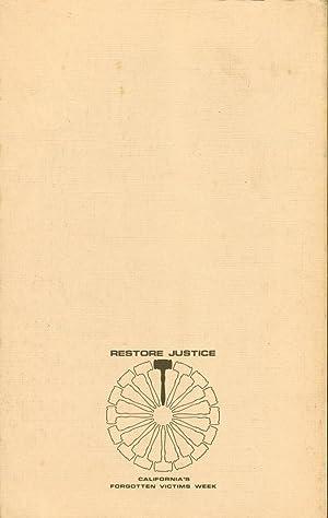 FORGOTTEN VICTIMS : An Advocate's Anthology: Nicholson, George; Condit, Thomas W,; Greenbaum, ...