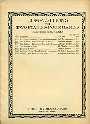 COMPOSITIONS FOR TWO PAINOS - FOUR HANDS: Brahms, Johannes; Maier,