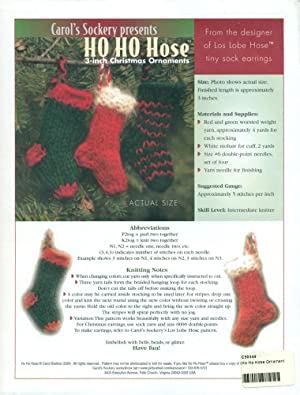 CAROL'S SOCKERY PRESENTS : HO HO HOSE : 3-inch Christmas Ornaments