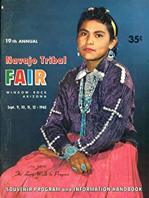 19TH ANNUAL NAVAJO TRIBAL FAIR : Sept, 1965 Souvenir Progarm, Window Rock, Arizona