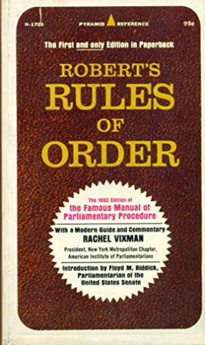 ROBERT'S RULES OF ORDER : 1983 Edition: Henry M. Robert;