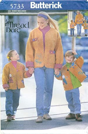 BUTTERICK SEWING PATTERN: #5733: THREAD BARE: Misses'/Children's My Family & Me Jacket: All Sizes