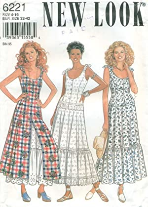 NEW LOOK/SIMPLICTY SEWING PATTERN: #6221: Misses' Shoulder Scoop-neck Dress, Top, Skirt & Pettico...