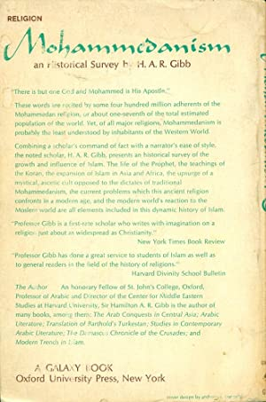 MOHAMMEDANISM: An Historical Survey: 2nd Edition (Oxford GB 90): Gibb, H.A.R.
