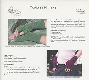 KIRA K DESIGNS : TOPLESS MITTENS : Item #401