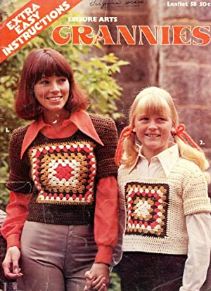 GRANNIES : Leisure Arts, Leaflet 58 : Extra Easy Instructions for Sweaters & Afghans