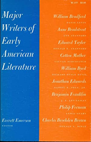 MAJOR WRITERS OF EARLY AMERICAN LITERATURE: Emerson, Everett H.