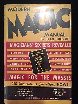 Modern Magic Manual. Magicians' Secrets Revealed.: Jean Hugard