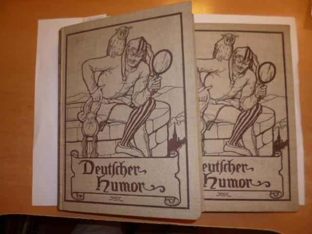 *Deutscher Humor in alter und neuer Zeit. Mit 200 Federzeichnungen von Franz Stassen - Band 1+2 (2 ...