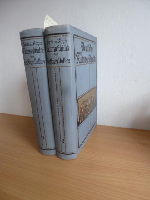 *Kulturgeschichte des Deutschen Volkes (2 BÜCHER): Henne am Rhyn, Dr.Otto