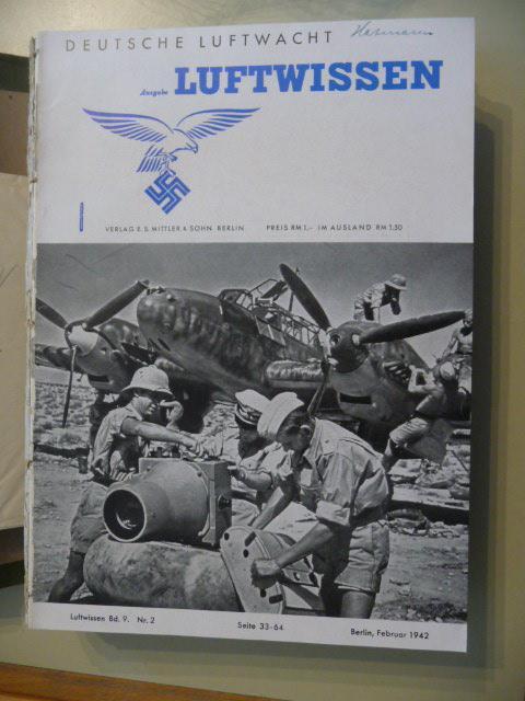 *Deutsche Luftwacht - Ausgabe Luftwissen. Zeitschrift für Luftfahrttechnik und -forschung. - ...