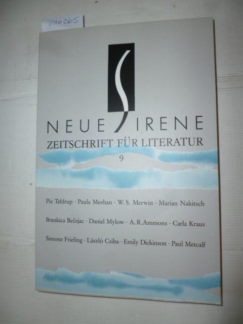 Neue Sirene. Zeitschrift für Literatur. Jahrgang 5: Hrsg.) Bettina Hohoff