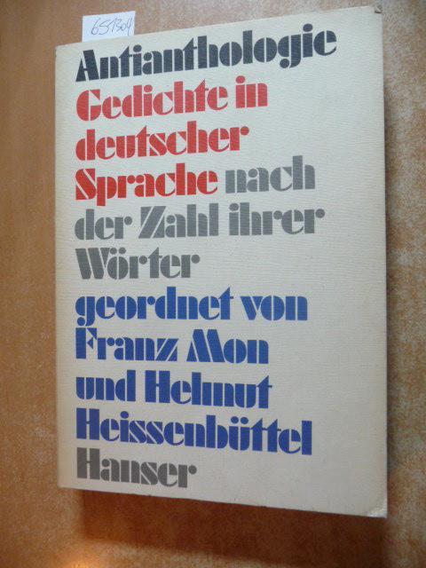 Antianthologie Gedichte In Deutscher Sprache Nach Der Zahl
