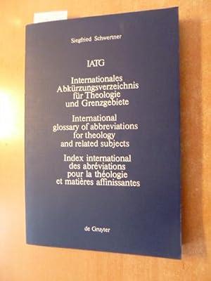 Internationales Abkürzungsverzeichnis für Theologie und Grenzgebiete : Schwertner, Siegfried M.