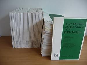 Allgemeine Zeitschrift für Philosophie - Konvolut: Start 1986 bis 2012 (51 Bücher): ...