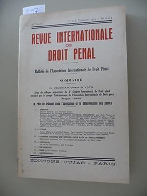Revue Internationale de droit penal - 41 Annee - 3 et 4 Trimestres 1970 - No 3 et 4 - Sommaire - in...