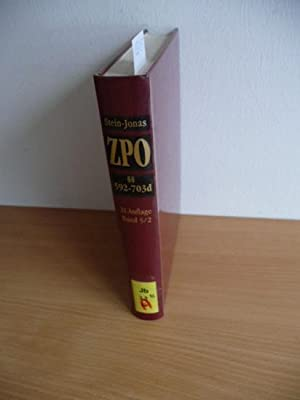Stein, Friedrich: Kommentar zur Zivilprozeßordnung . - Geb. Ausg. - Teil: Bd. 5. Teilbd. 2., ...