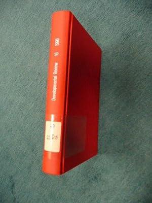Development Review : Vol 16 bis Vol 22 (7 Bücher): Grover J. Whitehurst