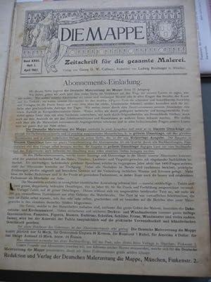 Die Mappe - Zeitschrift für die gesamte Malerei - Band XXVII - April 1907 - Heft 1 bis 12 ...