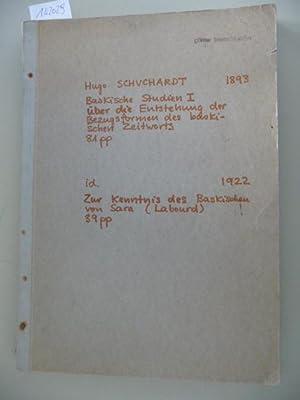 Baskische Studien - Über die Entstehung der Bezugsformen des baskischen Zeitworts (1893) + Zur...