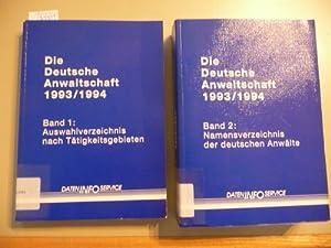 Die deutsche Anwaltschaft : Band 1 + 2: Diverse