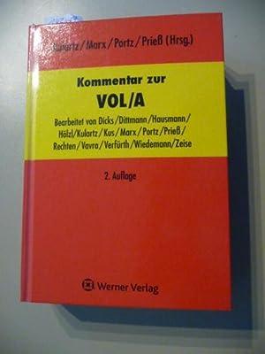 Kommentar zur VOL/A: Kulartz, Hans-Peter [Hrsg.] ; Dicks, Heinz-Peter [Bearb.]